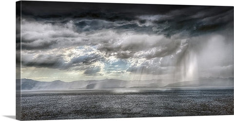 Rays Over the Lake Panoramic Canvas