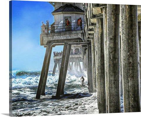 Ready to Shoot the Pier Canvas
