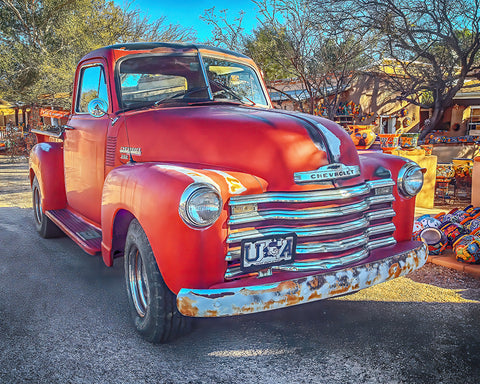 Rustic Red Chevy 3100 Metal Print