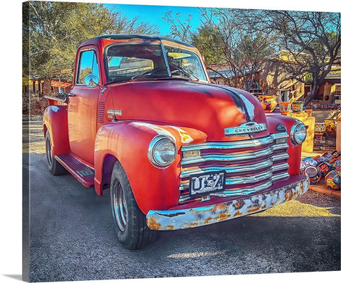 Rustic Red Chevy 3100 Canvas
