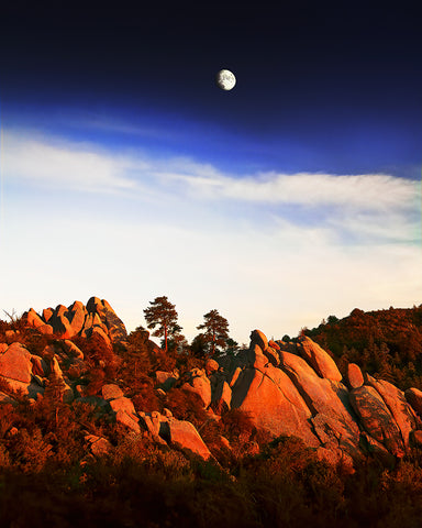Red Rocks and Moon, Prescott, Arizona