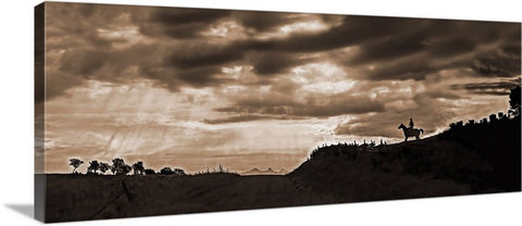 Ridge Route, True Grit Country, Colorado Panoramic Canvas