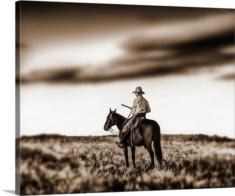 Ridin Shotgun Sepia Canvas