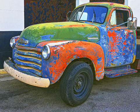 Rusty Chevy Standard Art Print