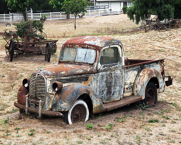 Rusty Ford Standard Art Print
