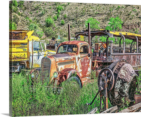 Construction Comes to a Halt! Jerome, Arizona Canvas