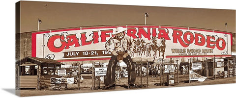 Historic Entrance Gate, California Rodeo Salinas Panoramic Canvas