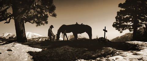 Say Goodnight Sepia Panoramic Standard Art Print