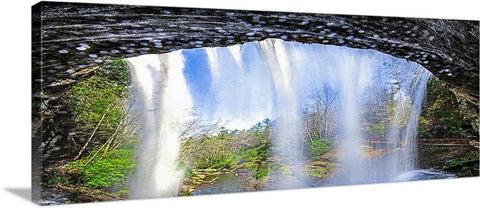 Falling Water Panoramic Canvas