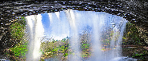 Falling Water Panoramic Standard Art Print