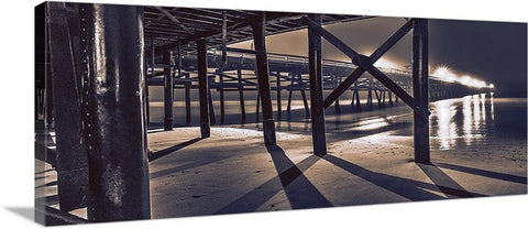 Sticks and Shadow Panoramic Canvas