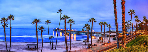 San Clemente Pier Sunrise, California Panoramic