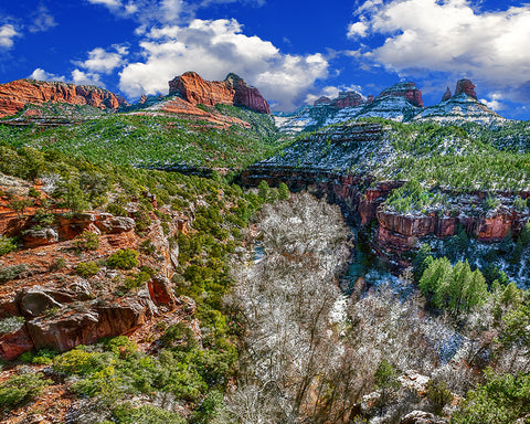 Sedona Gorge, Oak Creek Canyon Metal Print