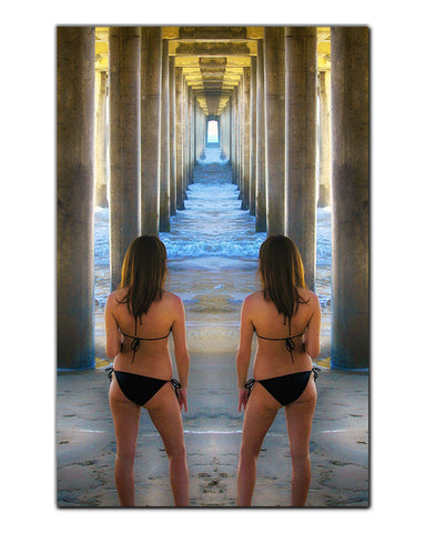 Seeing Double Metal Print