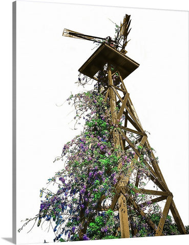 Springtime Windmill Canvas