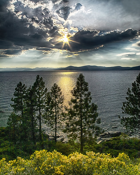 Star Sunset, Lake Tahoe, Nevada Metal Print