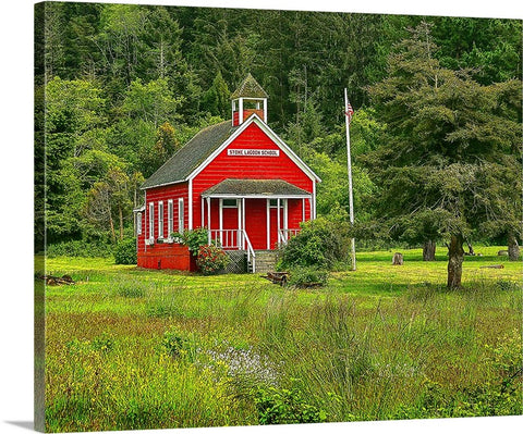 Stone Lagoon Schoolhouse Canvas