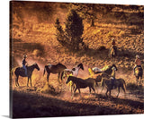Sunset Cowboys Canvas