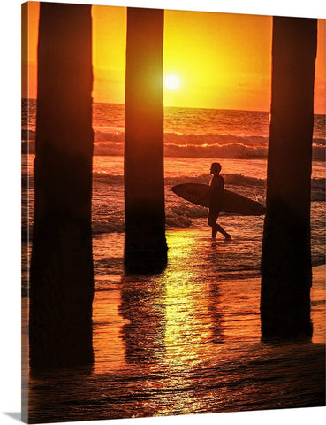 Heading For the Next Set, Huntington Beach, California Canvas