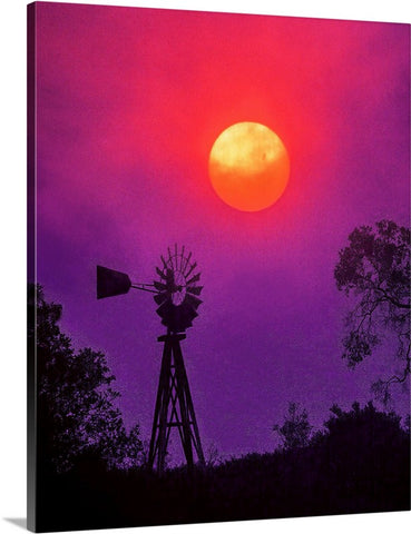 Sunset Windmill Canvas