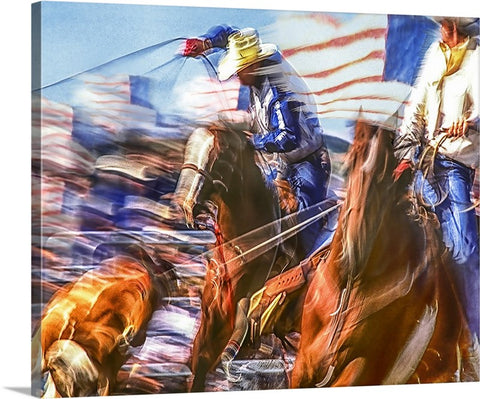 Team Ropers, USA Canvas