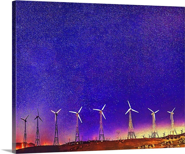 Wind Power Tehachapi CA Canvas