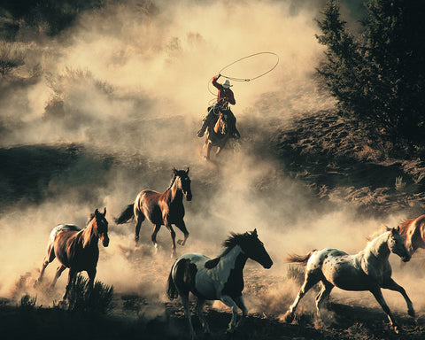 The Last Roundup Standard Art Print
