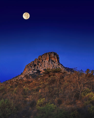 Thumb Butte Full Moon Metal Print