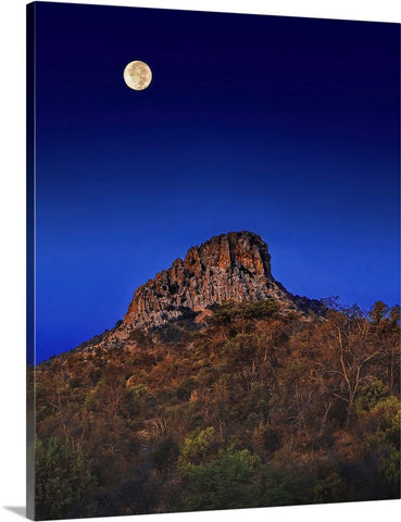 Thumb Butte Full Moon Canvas