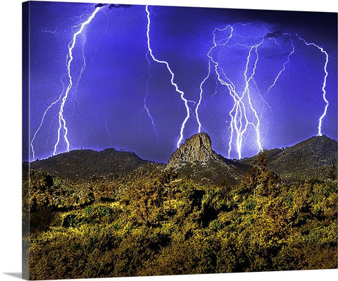 Thumb Butte Lightning Canvas