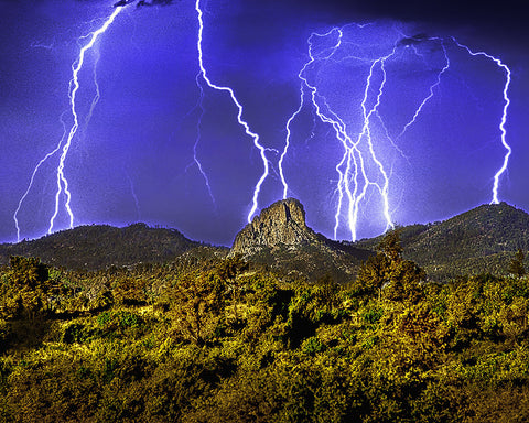 Thumb Butte Lightning, Prescott, Arizona