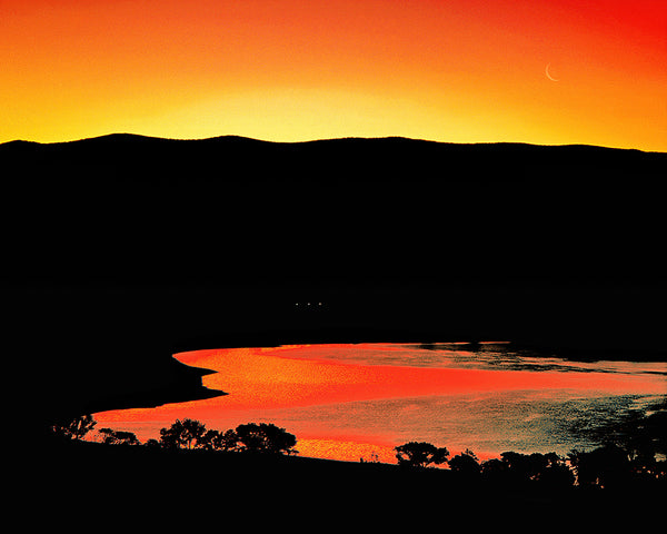 Topaz Lake Dawn Metal Print
