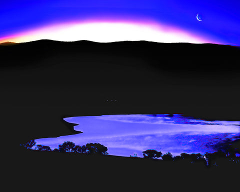 Topaz Lake Twilight Standard Art Print