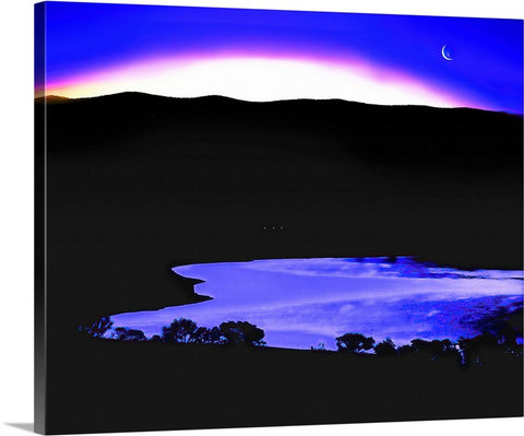 Topaz Lake Twilight Canvas