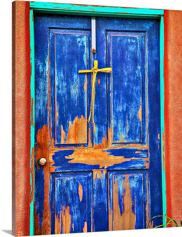 Rustic Southwest Door Canvas