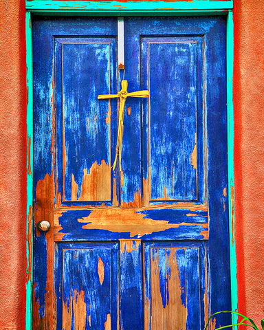 Rustic Southwest Door Metal Print