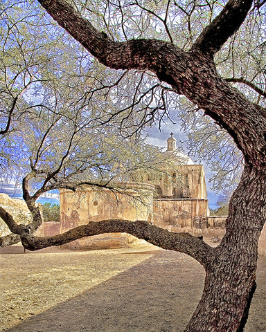 Tumacacori Mission Chapel, Arizona Standard Art Print