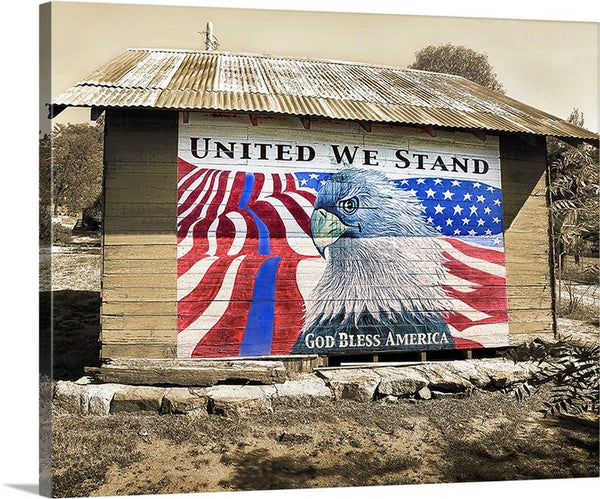 United We Stand, Blue Line Barn Canvas
