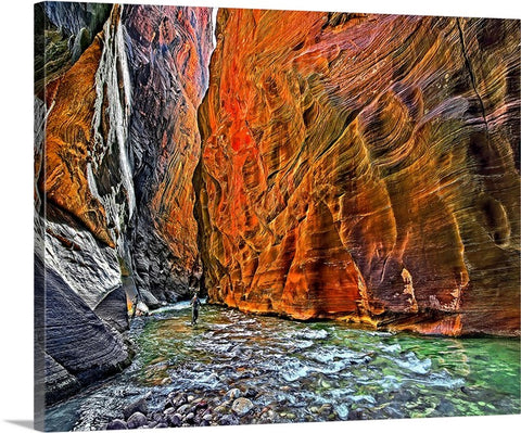 Wall Street, The Narrows, Zion National Park Canvas