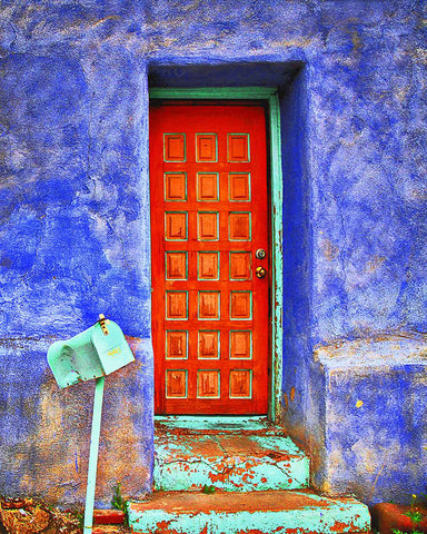 Urban Southwest Door Metal Print