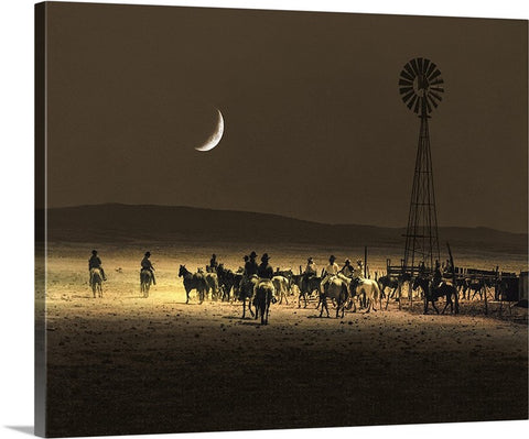 Under a Rustler's Moon Canvas