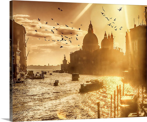 Venice, City of Love and Romance Canvas