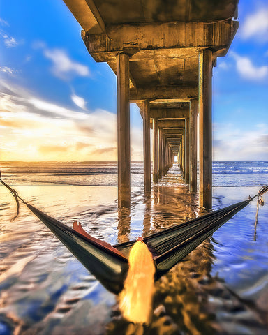 Waiting On Sunset Vertical, Scripps Pier, La Jolla, California