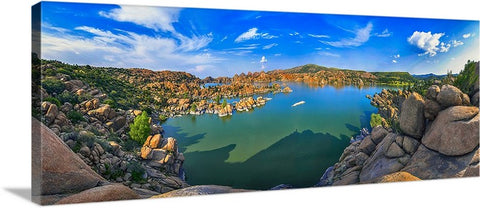 Watson Lake Panoramic Canvas