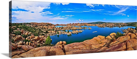Watson Lake Granite Dells Panoramic Canvas