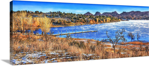 Watson Lake Granite Dells, Winter Panoramic Canvas