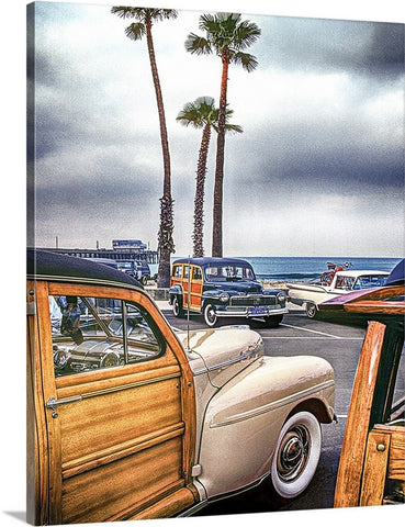 Woodies at the Pier Canvas