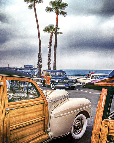 Woodies at the Pier Standard Art Print