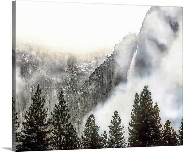 Yosemite Falls Winter, Yosemite National Park Canvas
