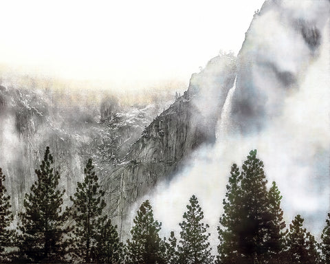 Yosemite Falls Winter Standard Art Print